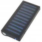 Solar Powered 800mAh Rechargeable Portable Emergency Power w/ Flashlight & Cellphone Adapters(Black)