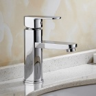 Brass Deck Mounted Ceramic Valve One Hole Chrome, Bathroom Sink Faucet w/ Single Handle