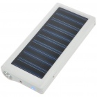 Solar Powered 800mAh Rechargeable Portable Emergency Power w/ Flashlight & Cellphone Adapters(White)