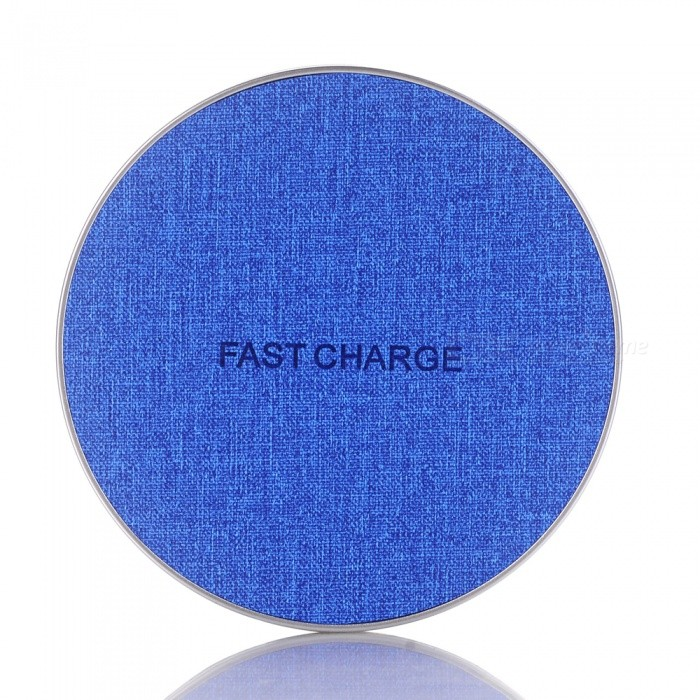 Qi Fast Charger, Wireless Charging Pad for IPHONE X / 8 / 8 Plus / Galaxy S9 S8 - Blue