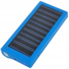 Solar Powered 800mAh Rechargeable Portable Emergency Power w/ Flashlight & Cellphone Adapters (Blue)