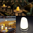 USB Rechargeable LED KTV Bar Table Desk Lamp Creative Night Light Coffee Shop Table Decoration Lamp Camping Light White/White