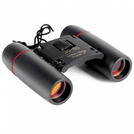 30x60 Zoom Telescope Folding Binoculars with Low Light Night Vision for Outdoor Bird Watching Travelling Hunting Camping  Black