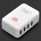 4-Port USB Power Adapter/Charger with US/EU/UK Plug Adapters (100~240V)