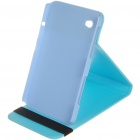 Protective Flip-open PU Leather Case with Elastic Strap for Samsung P1000 - Blue