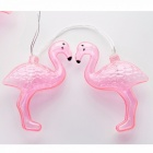 2m 10-LED Flamingo String Light, Flamingo Decoration Unicorn Flamingo String Light for Home, Party, Etc Warm White/0-5W