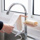 Multifunction Sink Storage Rack, Sponge Cloth Soap Box Combination Device, Adjustable Drain Basket Kitchen Gadget Pink