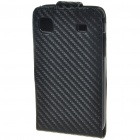 Protective PU Leather Case for Samsung Galaxy I9000 - Black