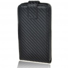 Protective PU Leather Case for HTC Desire HD - Black