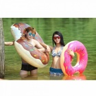 PVC Inflatable Donut Swimming Ring, Giant Pool Floating Water Toy, Inflatable Mattress For Kids Adults Beach Sea Party Red