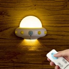Novelty UFO LED Night Light W/ Remote Control, Adjustable Brightness Plug-In 220V Dimmable Wall Light For Baby Yellow/CN