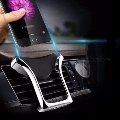 Car Bracket Car Phone Holder For Car Flexible Universal Car Gravity Holder Support Mobile Phone Silver