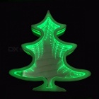 3D Marquee LED Tunnel Lamps Novelty Illusion Christmas Tree Night Lights Creative Gift Decor Lamp For Wall Desk Green/White/0-5W
