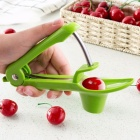 Stainless Steel ABS Cherry Olives Red Dates Core Removal Device Easy Squeeze Grip Fruit Vegetable Tool Kitchen Gadgets Green