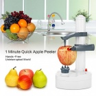 Multifunction Electric Vegetables Fruit Apple Peeler Automatic Peeling Machine Touch Auto Rotate Peeler Stainless Steel White