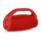 Portable Boom Box Outdoor HIFI Bass Column Speaker Wireless Bluetooth Speaker Subwoofer Sound Box Red/Speaker