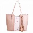 Ladies Vintage Casual Shopping  Bag  Shoulder Bags Large Capacity Women Handbags Single-Shoulder Bag Pink