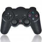 2.4GHz RF Wireless Dual-Shock Game Controller with Receiver for PS2 - Black (3*AAA)