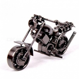 14cm Motorcycle Model Retro Motor Figurine Metal Decoration Handmade Iron Motorbike Prop Vintage Home Decor 14x5x9cm/M36