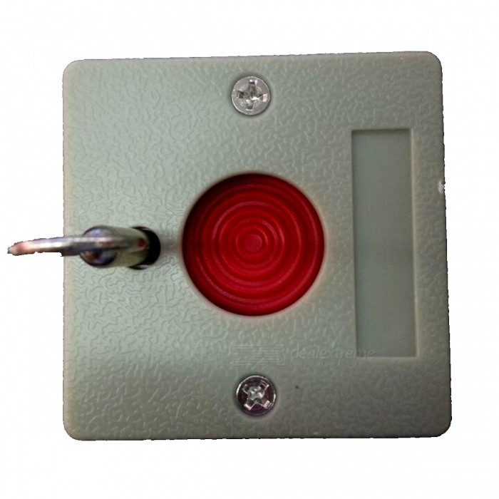 Emergency Panic Button with KeyAlarm Systems<br>Form  ColorGreyPacking List<br>