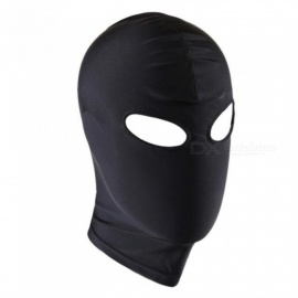Unisex Lingerie Headgear Mask Hood Bondage for Role Play Costume Party for Lingerie Night Black Mask for Men Adult Style 4