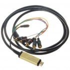 Gold Plated 1080P HDMI to YPbPr + Audio Adapter Cable (2M-Length)