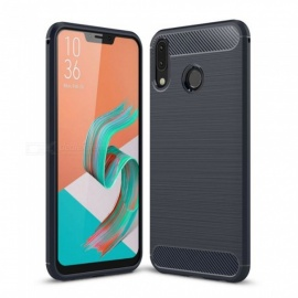 Naxtop Wire Drawing Carbon Fiber Textured TPU Brushed Finish Soft Phone Back Cover Case For Asus Zenfone 5z ZS620KL