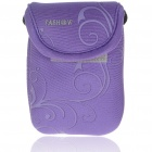 Digital Camera Bag with Strap & Clip - Purple