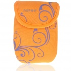 Digital Camera Bag with Strap & Clip - Orange