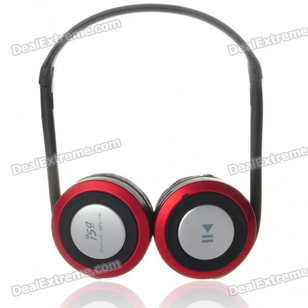 Sport MP3 Player + Bluetooth Headset with FM/TF Slot - Black + Red (15-Hour Talk/200-Hour Standby) stylish neckband headphones mp3 player headset w fm tf card slot black
