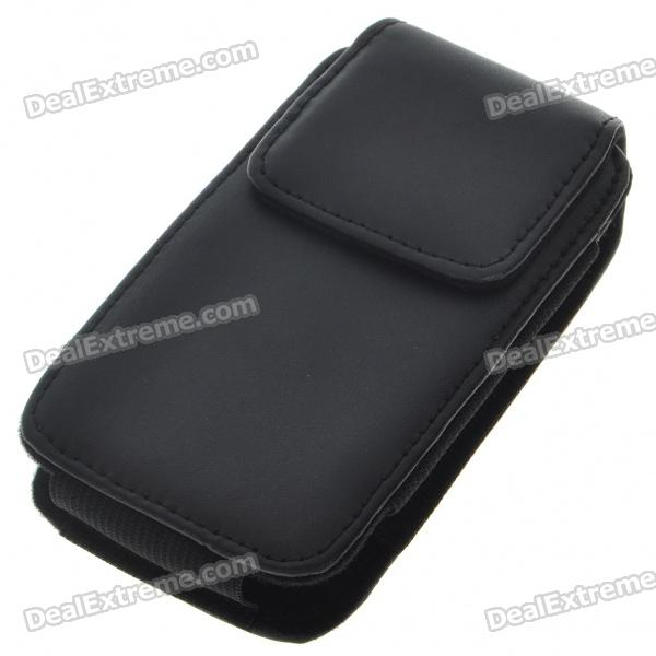 Protective PU Leather Case with Clip for HTC Desire G7/G5/Nexus One (Black)
