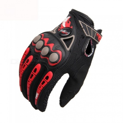 PRO-BIKER MCS-23 Motorcycle Racing Gloves - Black (Size L / Pair)