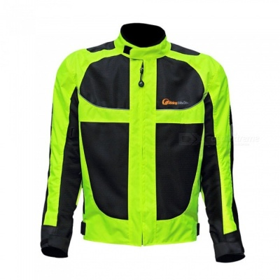 Riding Tribe JK - 21 Reflective Racing Winter Motorcycle Waterproof Jacket - Black (L)