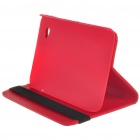 Protective Flip-open PU Leather Case with Elastic Strap for Samsung P1000 - Red