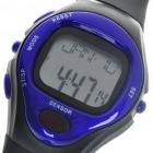 Digital Pulse Rate Calories Counter Timer Watch with Alarm - Black + Bluish Violet (1*CR2032)