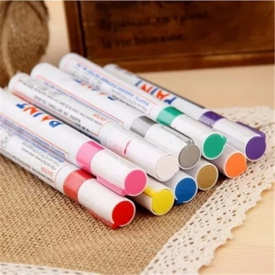 Permanent Waterproof Car Tyre Tire Metal Painting Marking Pen Marker, Motor Bike Automoblies Car-styling Paint Pen Red