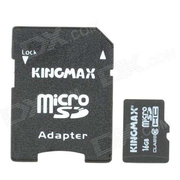 Genuine KingMax Micro SD/SDHC Card with SD Card Adapter (16GB/Class 10)
