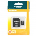 KingMax Micro SD / SDHC Card w/ Card Adapter - Black (16GB / Class 10)