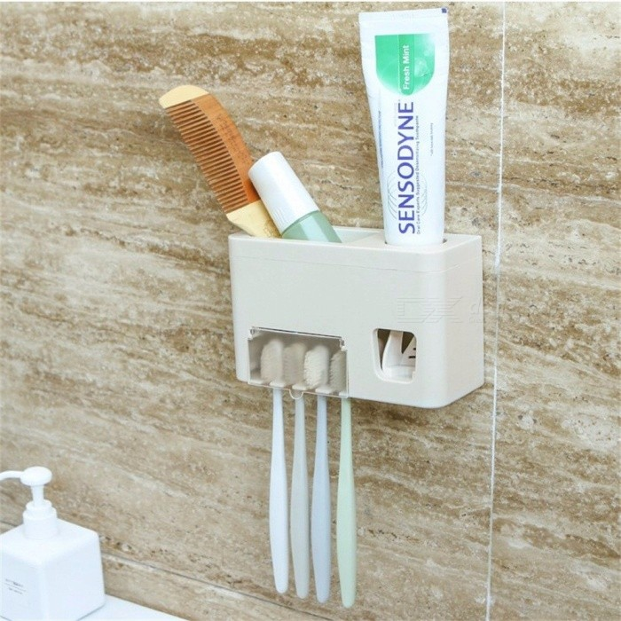 Hand Free Toothpaste Dispenser, Automatic Wall Mounted Sticker 4 ...