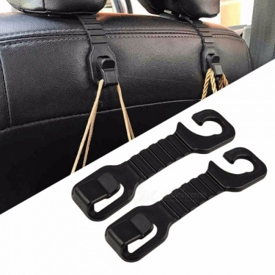 Universal Car Seat Back Hook Hanger Organizer, Universal Headrest Mount Storage Hook For Car Interior Storage Black