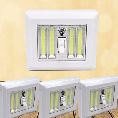 Magnetic COB LED Switch Wall Night Lights Battery Operated Cabinet Closet Camping Emergency Light 9W/White