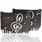 Cute Cartoon PU Leather Purse Wallets - Piano Music (2-Pack)