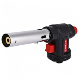 Outdoor Stove Portable Camping Welding Gas Torch Butane Flame Gun Survival Auto Ignition Flamethrower Lighter Gas Burners Black