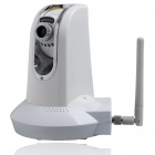 300KP Network Surveillance IP Wireless Camera with 6-LED IR Night Vision/Microphone/Speaker (White)