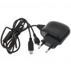 Universal Mini + Micro USB AC Travel Charger for HTC Cell Phones (100~240V AC/EU Plug)