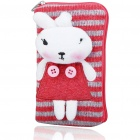 Cute Rabbit Knitting Carrying Bag with Strap for Cell Phone/Gadgets