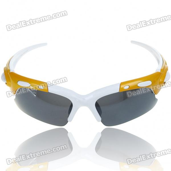Stylish UV400 Protection Resin Lens Sports Sunglasses Goggle with Carrying Case & Cleaning Cloth