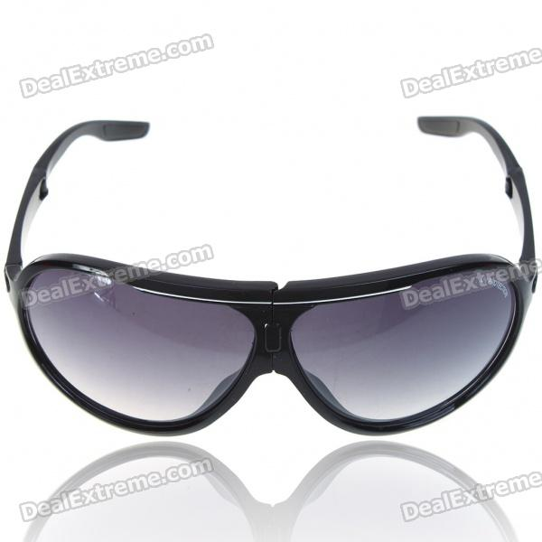 Stylish Foldable UV400 Protection Resin Lens Sports Sunglasses Goggle with Carrying Case