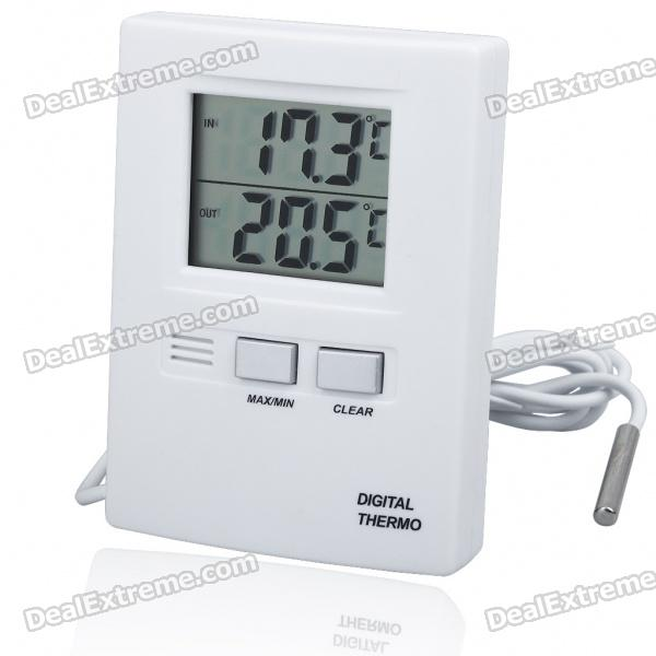 1.7 LCD Indoor/Outdoor Digital Thermometer (1*AAA) sw c2 0 200 celsius dial setting temperature controller