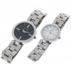 Wilon Valentine's Stainless Steel Band Quartz Wristwatch Set (Pair)